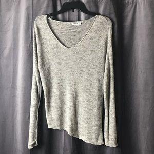 Zara Grey Knit Sweater w/ Asymmetrical Hem